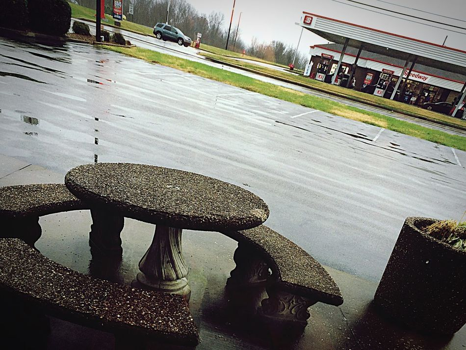 Rainy Day Hanging Out Relaxing Loving Life! Rain Window View at Hardees Mommy Daughter Day