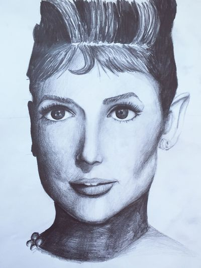 Drawing Art ArtWork ArtInMyLife Drawing Check This Out Blackandwhite Audrey Hepburn