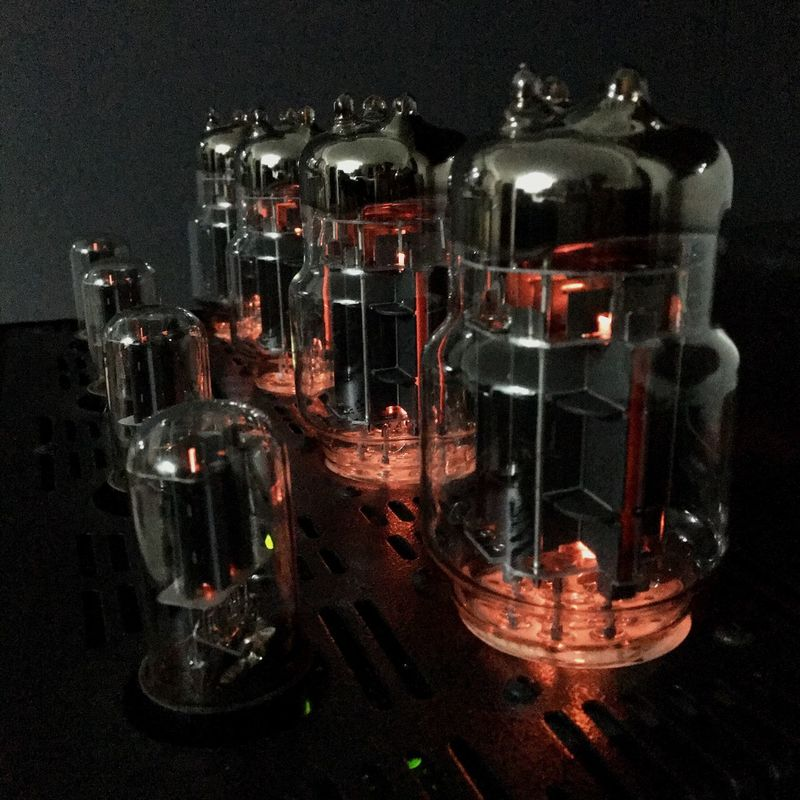 Soviet-made 6C33B vacuum tubes light up on my U.S.-manufactured power amplifier here in the Philippines. Indoors  Black Background Close-up Technology Close Up Technology Philippines Audiophile Bat Balanced Audio Technology VK-55 6C33B Stereo Tube Amplifier Black Background Power Amplifier Vacuum Tubes Vacuum Tube Lieblingsteil