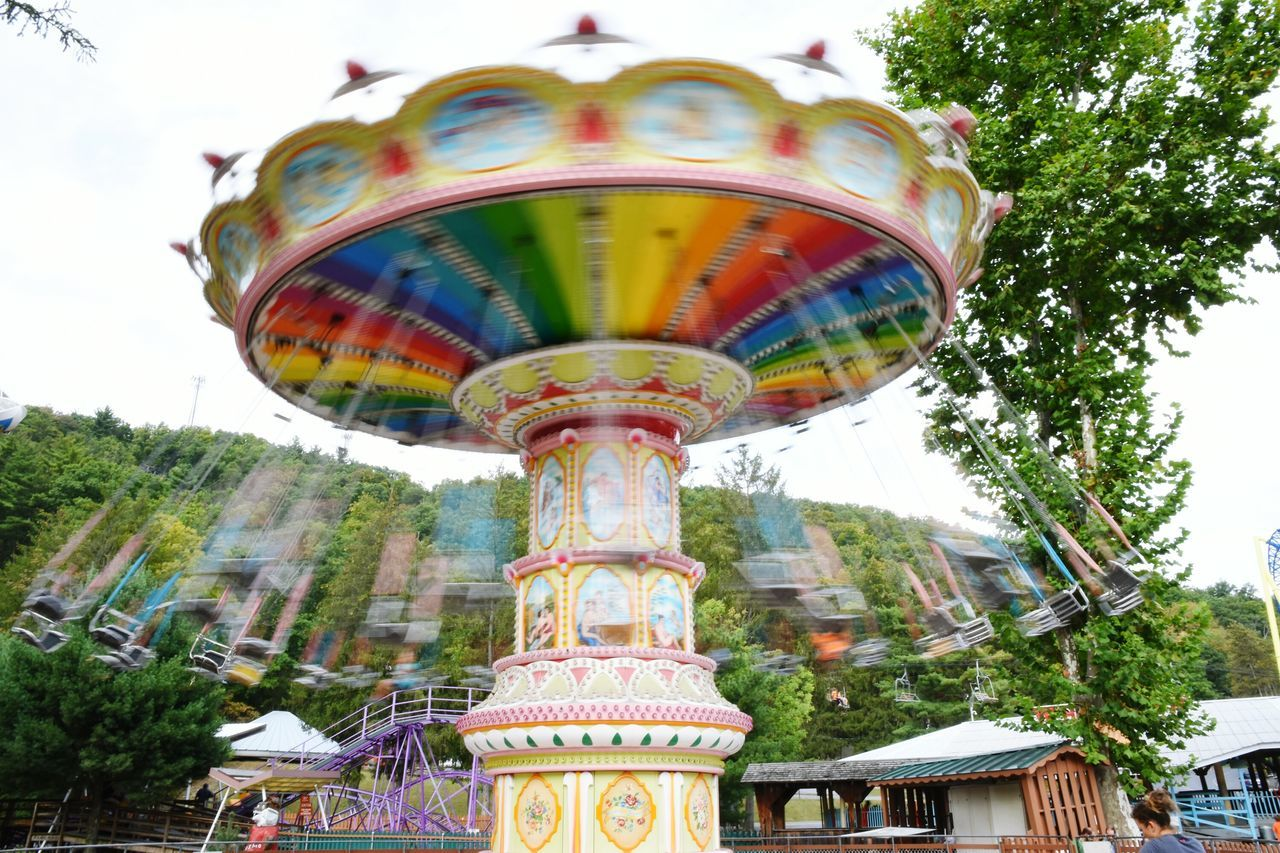 Summer spins to an end. Low Angle View Architecture Outdoors Tall - High Cloud - Sky No People Pennsylvania Beauty Long Exposure Tourism Pennsylvania Amusementpark Amusement Ride Swing Motion Motion Blur Slow Shutter Day Summer EyeEm EyeEm Best Shots EyeEm Gallery Knobels
