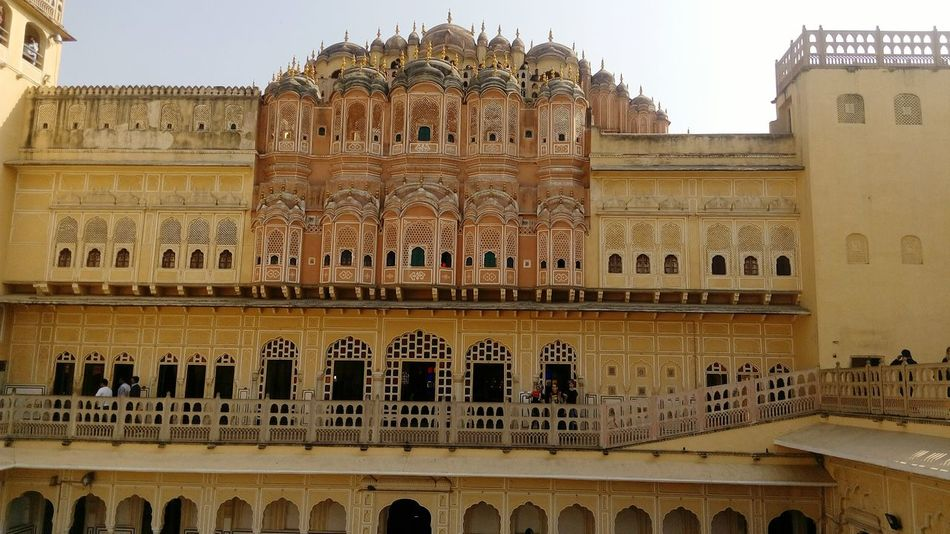 Architecture Built Structure Travel Destinations Travel Building Exterior City Tourism Façade No People Outdoors Day Hawa Mahal Indian Culture  Jaipur Diaries Jaipur Tourist Place Famous Tourist Attractions Architecture