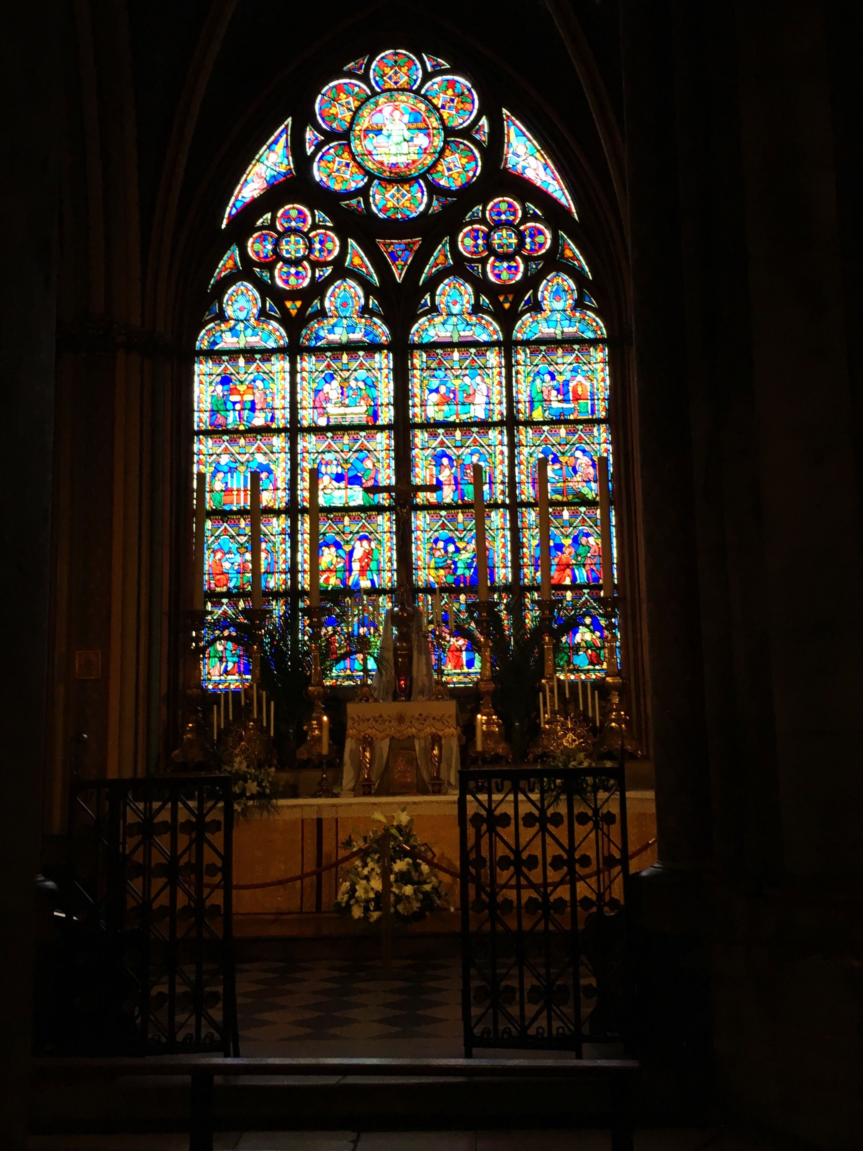 indoors, place of worship, religion, church, spirituality, stained glass, window, architecture, built structure, cathedral, arch, design, art, ornate, multi colored, glass - material, pattern, art and craft