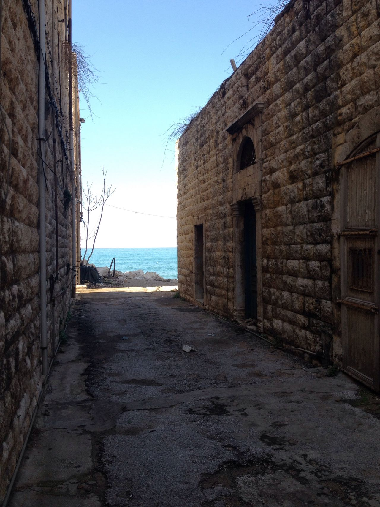 Passage to the Sea Sea And Sky Urban Decay Rustic East Mediterranean Lebanon