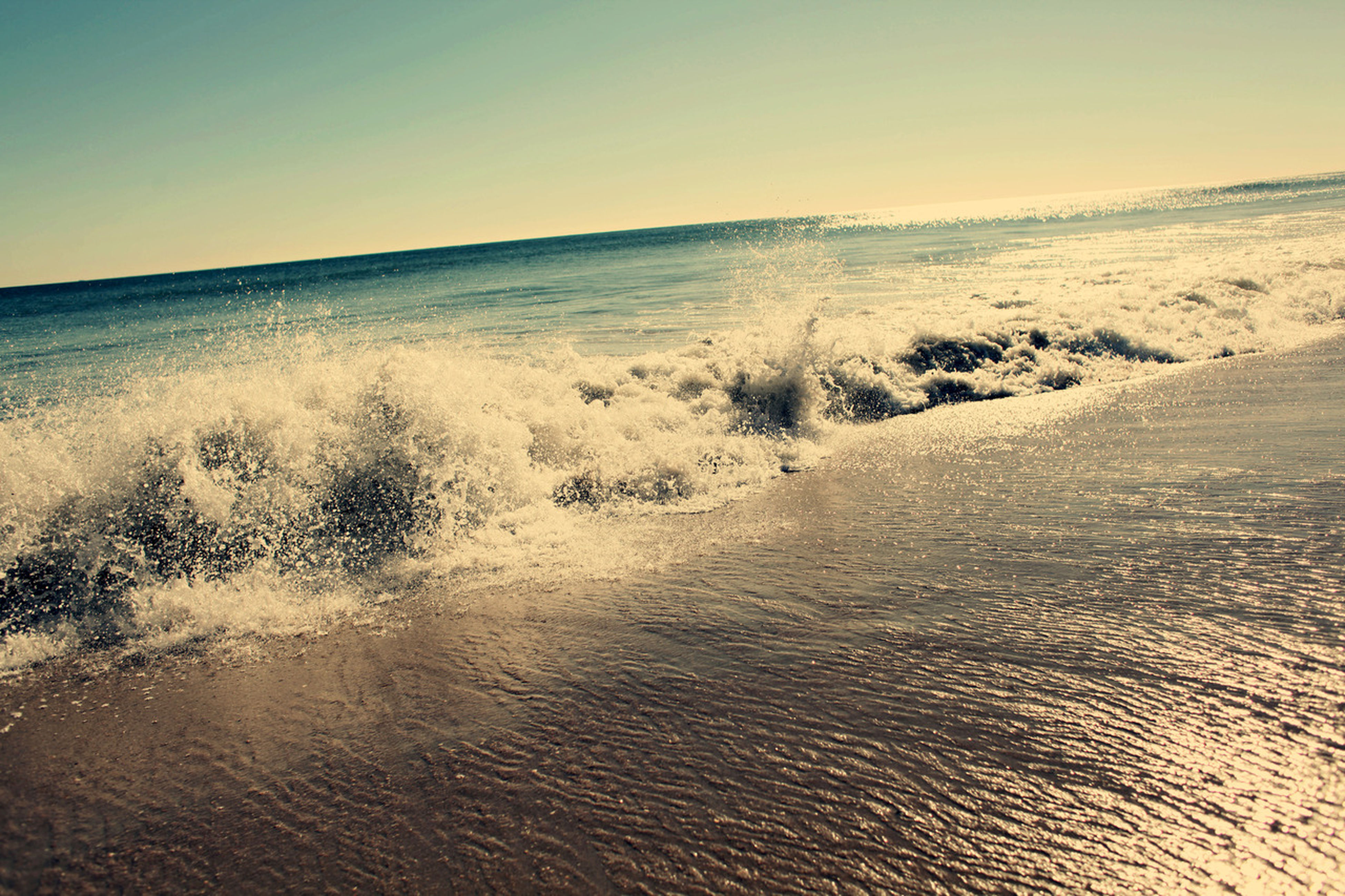 water, sea, tranquil scene, scenics, clear sky, horizon over water, waterfront, tranquility, beauty in nature, beach, wave, nature, rippled, copy space, sand, idyllic, sky, shore, surf, seascape