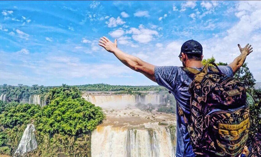 Cataratas! Water Cataratasdeliguazú  Cataratasdoiguaçu Brazil Waterfall Sky Travel Photography Traveling Awsome Beautiful
