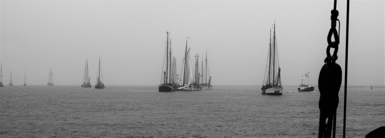 Regatta Beauty In Nature Brandaris Fog Nature Nautical Vessel Outdoors Regatta Sailboat Sailing Sailing Ship Sea Sky Tall Ship Transportation Water Yacht Yachting