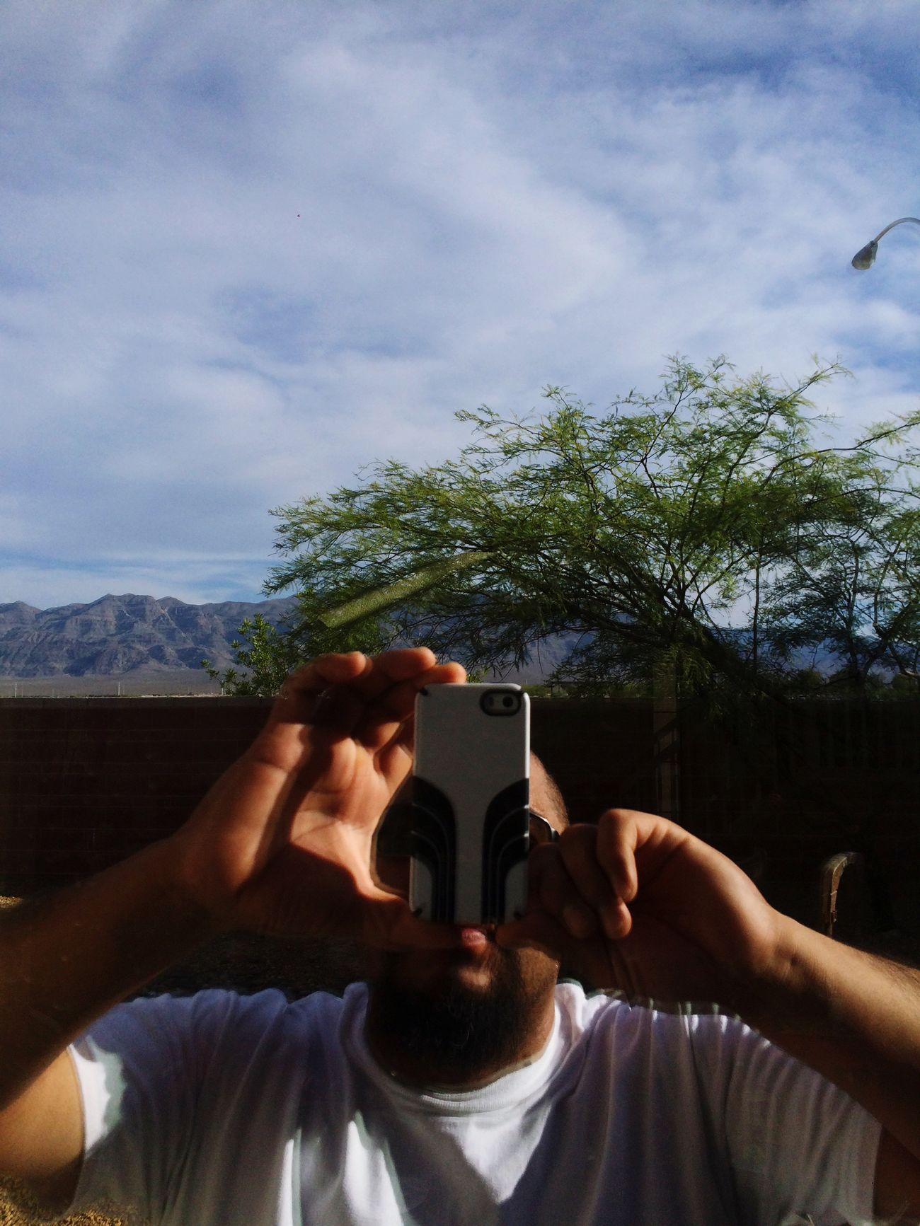 Reflection Backyard Taking Photos Vegas  In The Heat Summer