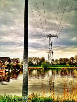 Power Lines at Wijk Reitdiep by Floris