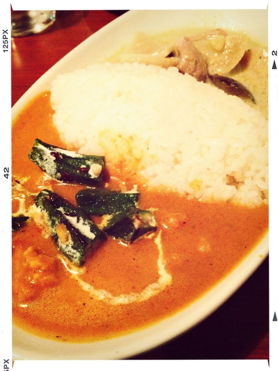 Lunch Curry Food オクラのカレーって珍しい。