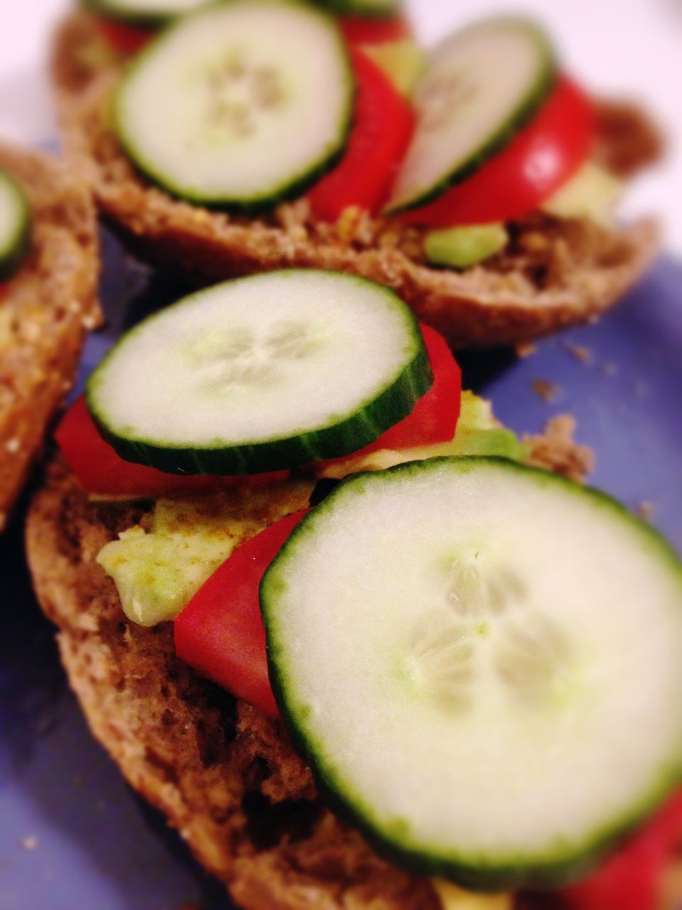 food and drink, food, freshness, indoors, slice, healthy eating, no people, cucumber, ready-to-eat, tomato, close-up, plate, sandwich, day