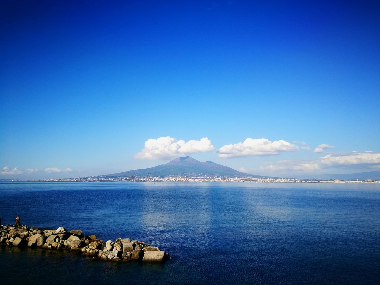 Blue Sea Sky Nature Beach Outdoors Autumn Swimming First Eyeem Photo Vesuvio Naples Bay Clouds And Sky