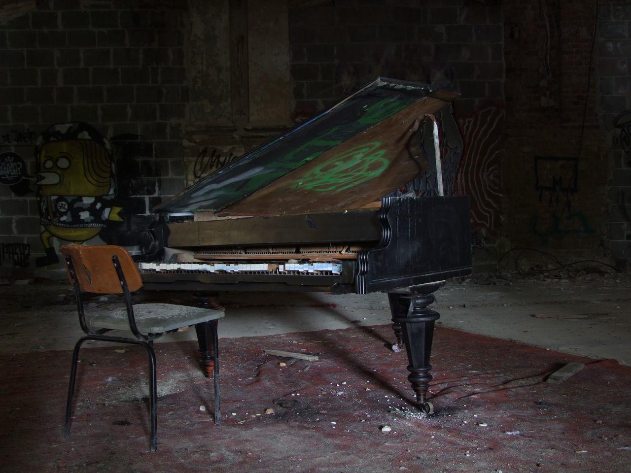 Abandoned Berlin Day Decazadorapresa Indoors  Music Musical Instrument No People Piano