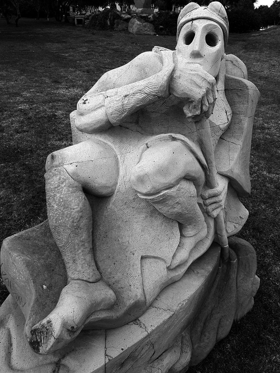 Garden Sculpture  Sculpture Fear Expressive Sculpture Black And White Black & White Monochrome Sardegna Sardinia Italia Stone Sculpture Stone Art Art Monochromeart