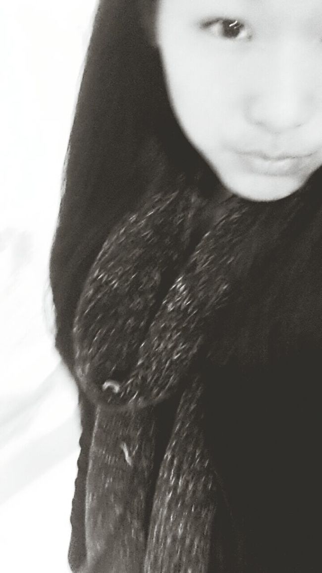 with my old scarf . Selfile
