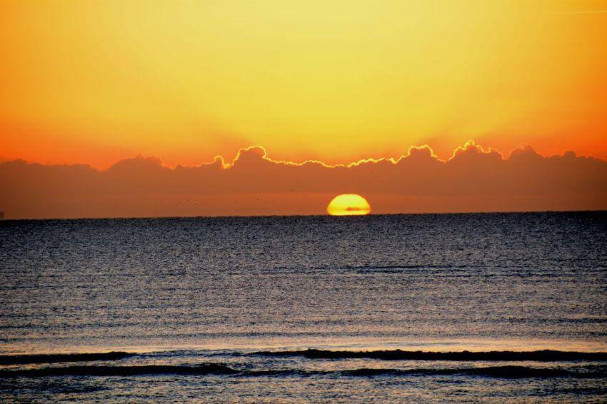 Beach Beauty In Nature Horizon Over Water Nature Outdoors Scenics Sea Silhouette Sky Sun Sunlight Sunrice #sunrice #morning #lovely Tranquil Scene Water
