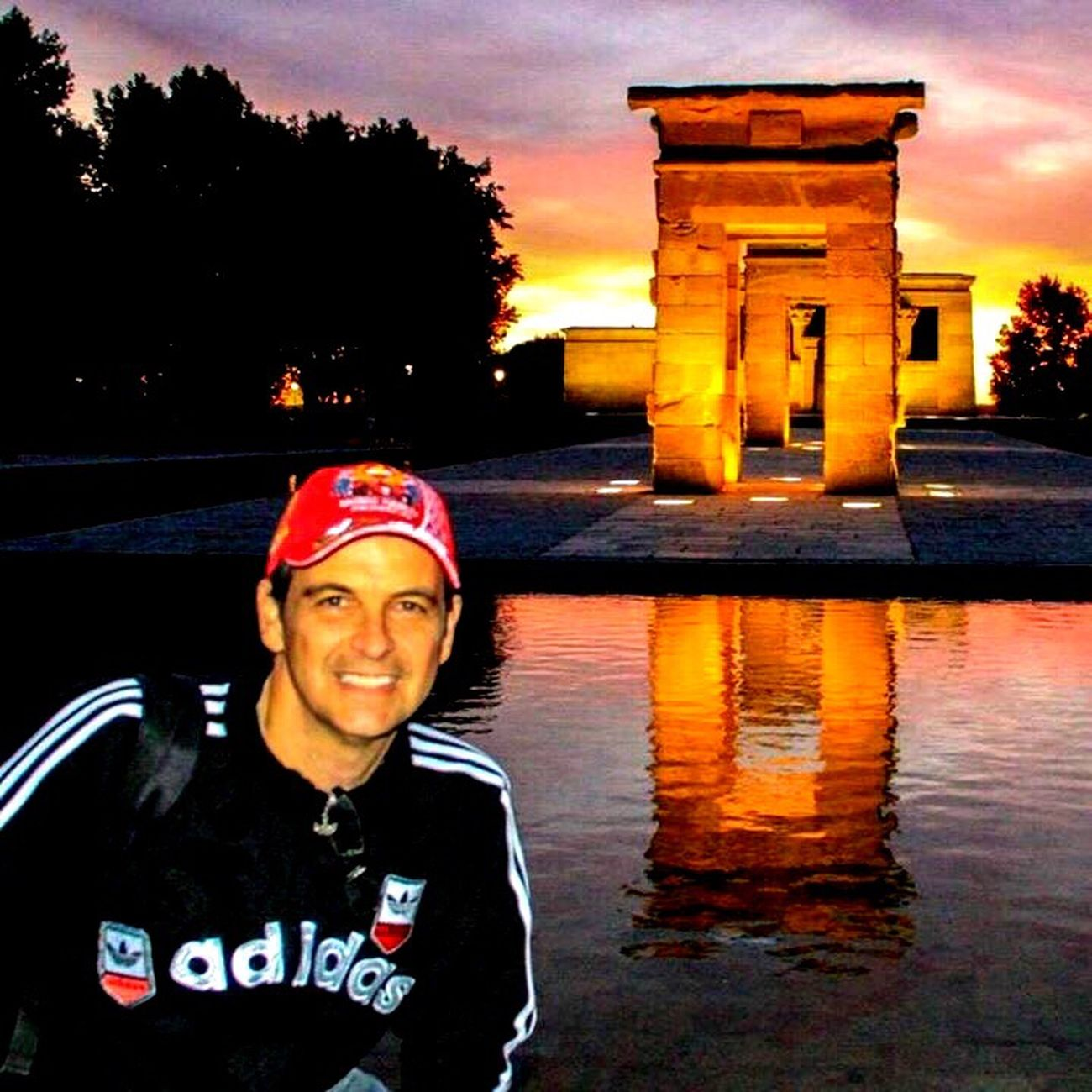 Templo De Debod Madrid Madrid Spain Trip Myself Beautifulplace Energy Romantic Place Portrait Sunset Front View Water Architecture Sky ExploreEverything Fantastic View
