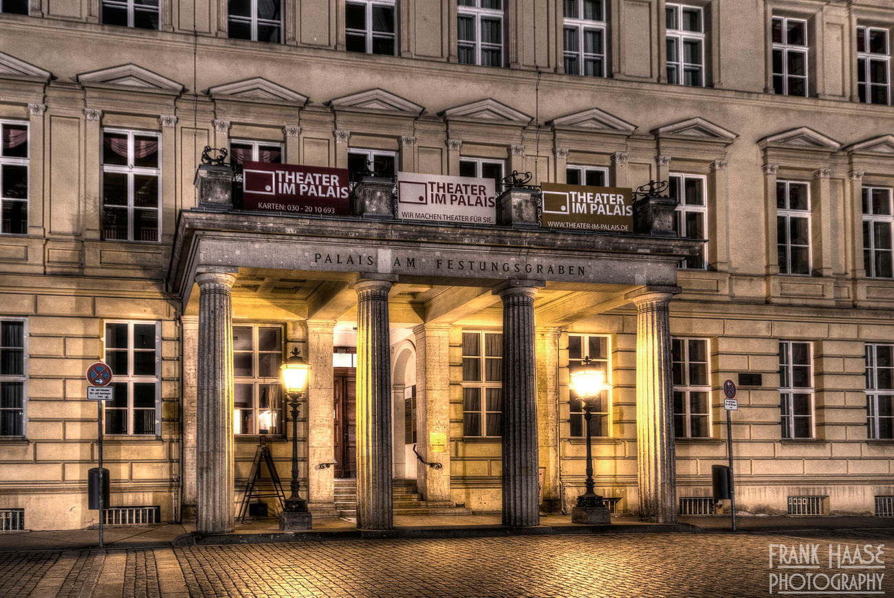 Architecture Berlin Building City Germany HDR Illuminated Lantern Night No People Outdoor Town Travel Windows Yellow