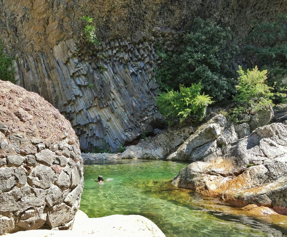 Paradis France Ardeche Paradise Jaujac Beautiful Nature Swimming Time Orgues Basaltiques Volcanicwater