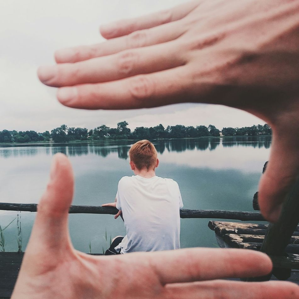 Handframing my brother   EyeEm Best Shots Lake Chillout Landscape