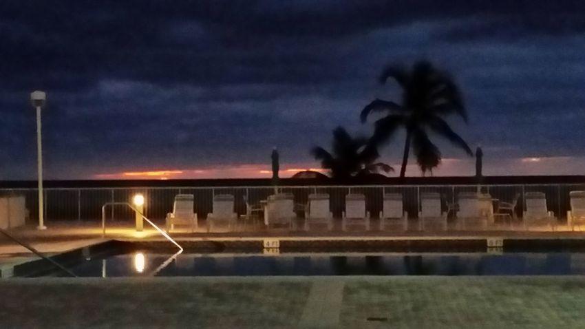 No sunrise here in pompano beach fla
