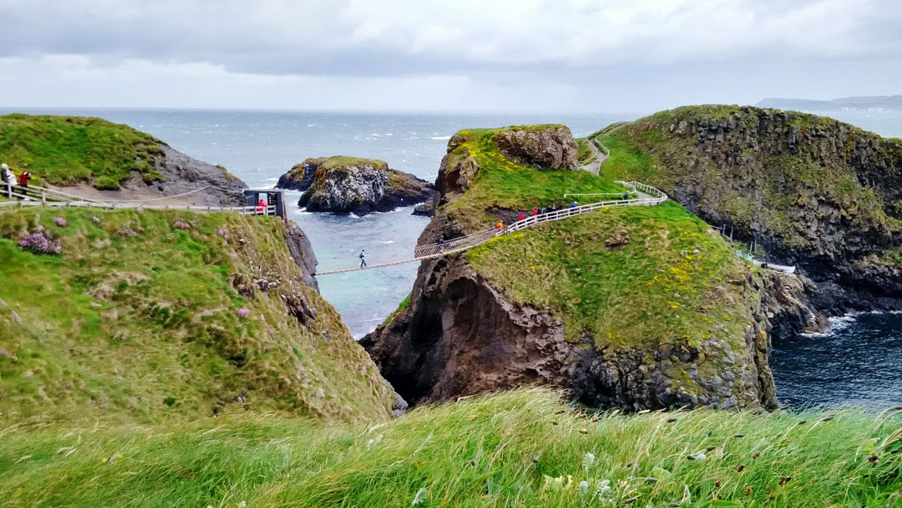 Windy encounters... Chilling and thrilling at Carrick a rope bridge...