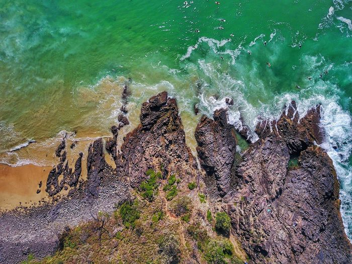 EyeEm Selects Bird's eye view of Noosa National Park. Dji Dronephotography Mavic Pro Water Nature High Angle View Sea Outdoors Beauty In Nature Perspectives On Nature