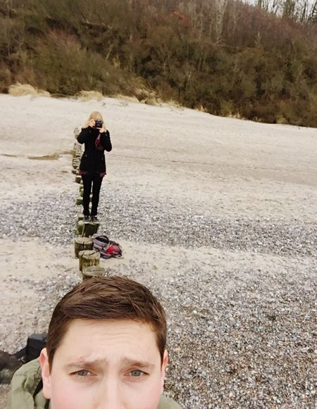 The Tourist 🙄makes Selfies at the Beach 🙄 ThatsMe Thats Me  Selfie ✌ Shooting Wanderlust Check This Out Ostsee Taking Photos Showcase: February Selfportrait Cheese! Baltic Sea