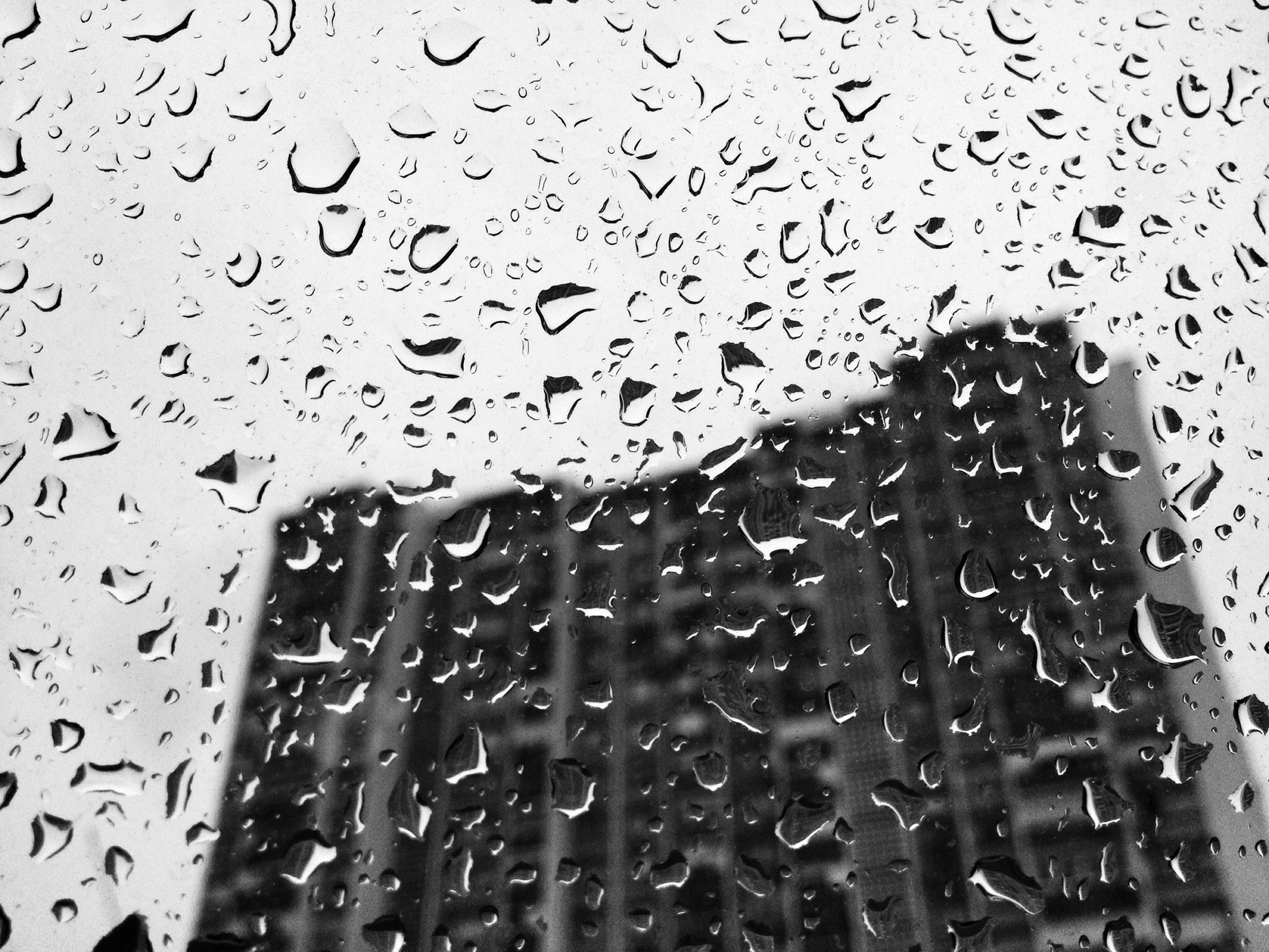 drop, wet, window, indoors, water, rain, transparent, glass - material, raindrop, full frame, weather, backgrounds, season, focus on foreground, close-up, glass, sky, built structure, architecture, water drop