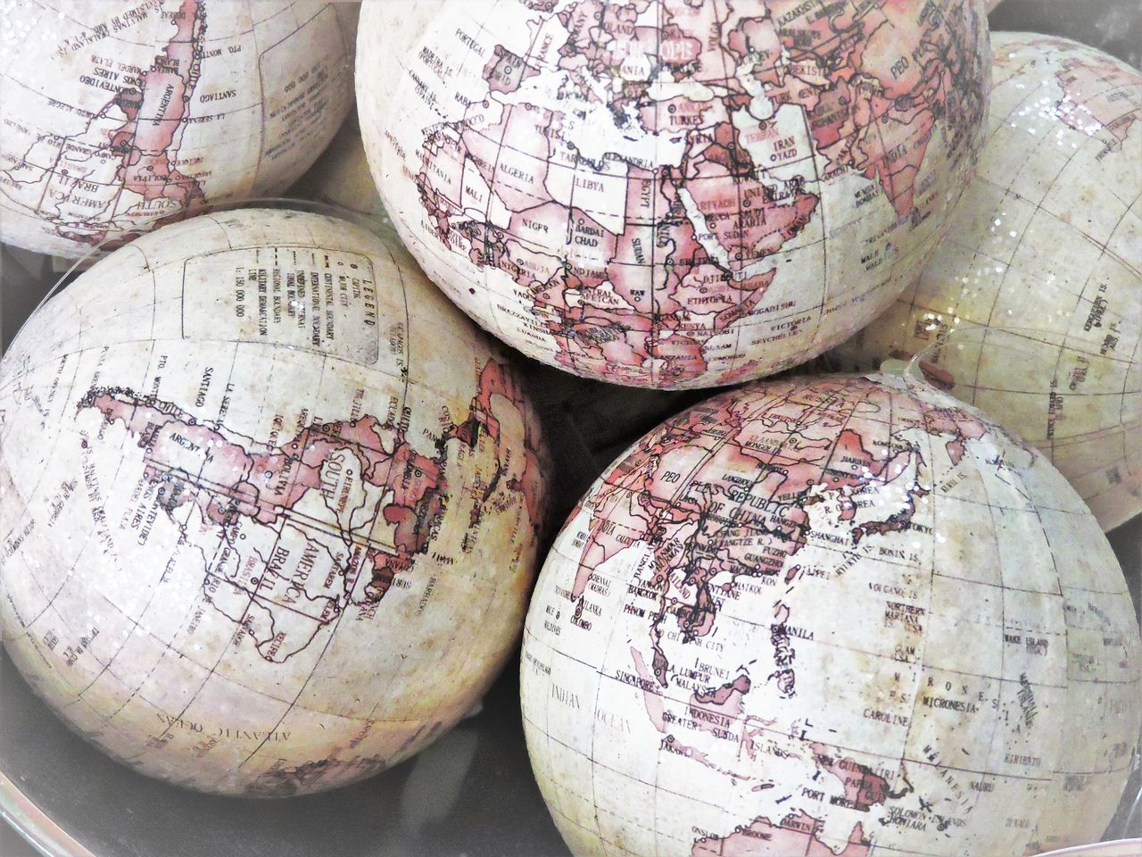 Beautiful stock photos of globe of earth, Damaged, Geographical Locations, Globe - Man Made Object, High Angle View
