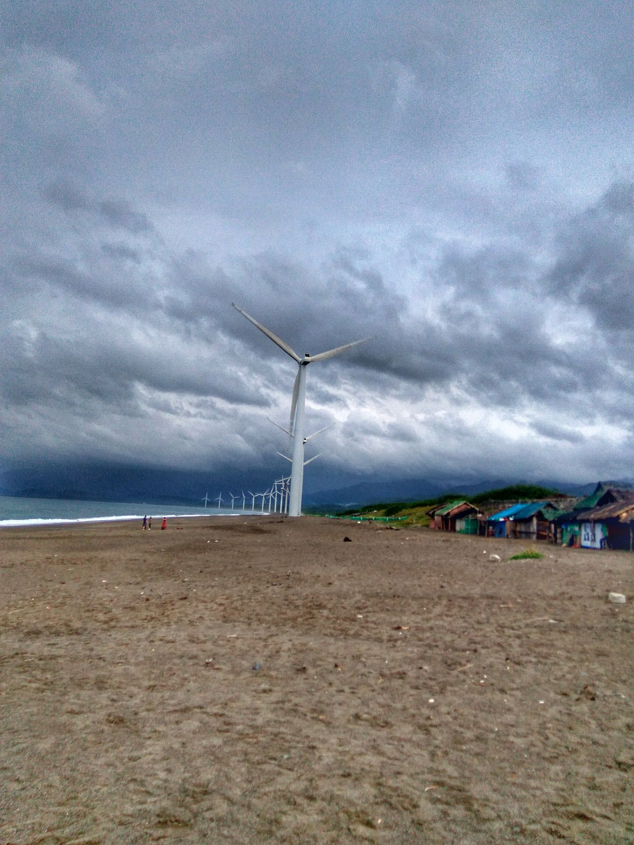 Sky Sea Cloud - Sky Horizon Over Water Water Outdoors Beach DayTravelPhilippines Eyeem Philippines Wind Mill Windmill