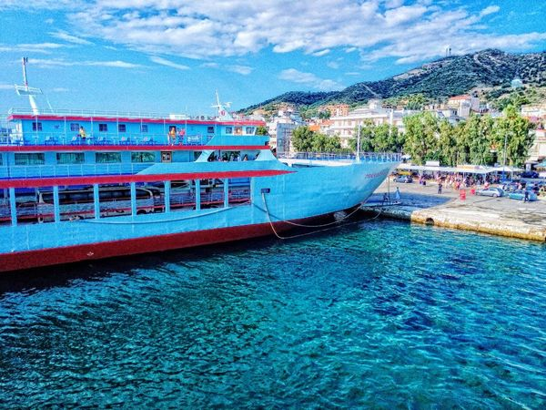 Greece Summer Sea Port Ship Ferryboat Colors Colours HDR
