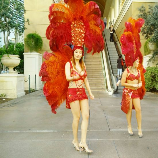 Vacation Walking Around Vegas Baby Random Photo  From My Point Of View Come And Join Me Relaxing Girl In Red Portrait