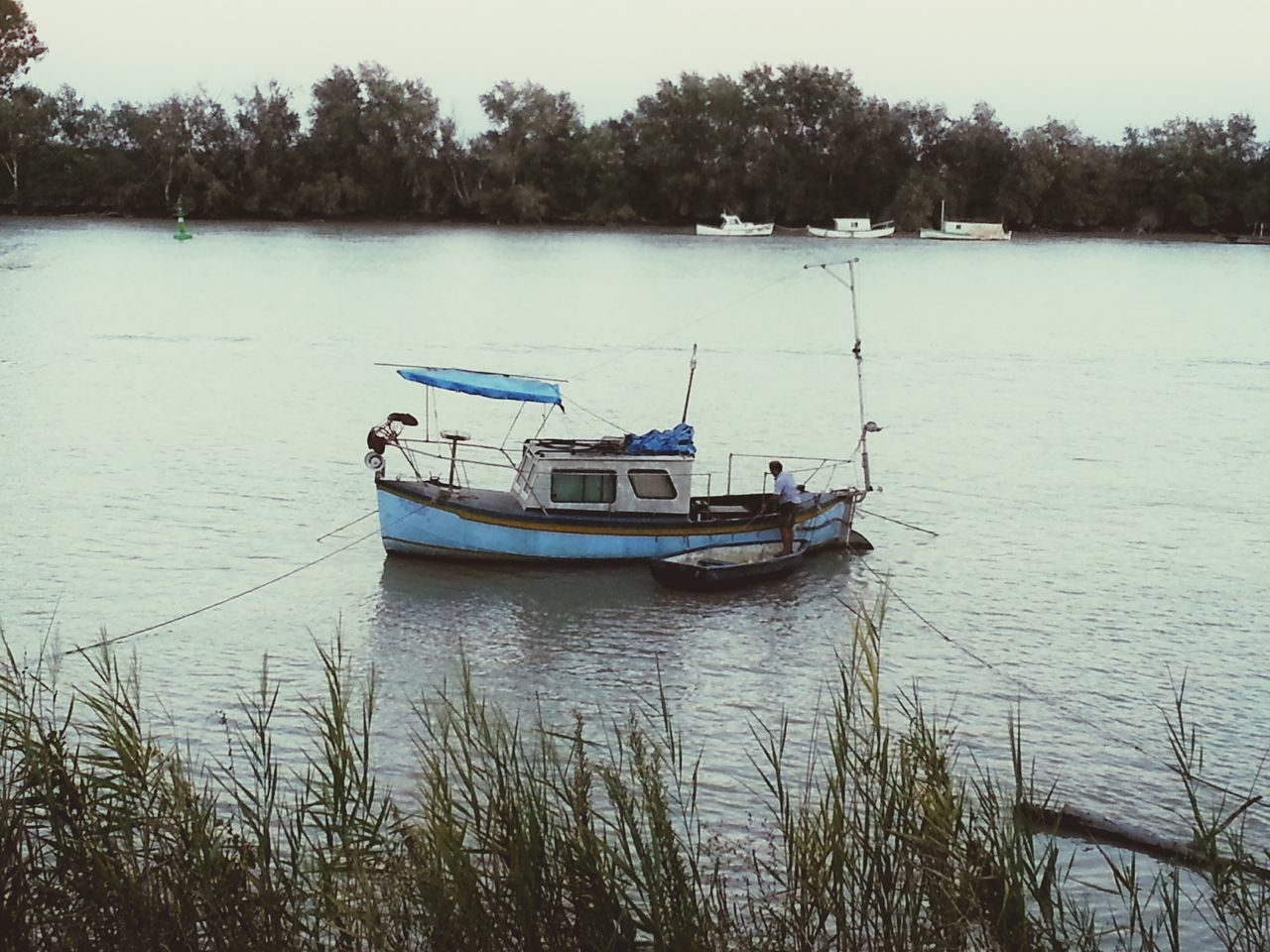Nautical Vessel Water Lake Tree Outdoors Nature Moored People Beauty In Nature Sky Cloudy Afternoon Afternoon Sky Afternoon Blues River Guadalquivir Ship Shiplife Shipping  Ships On The Water Ship In The River