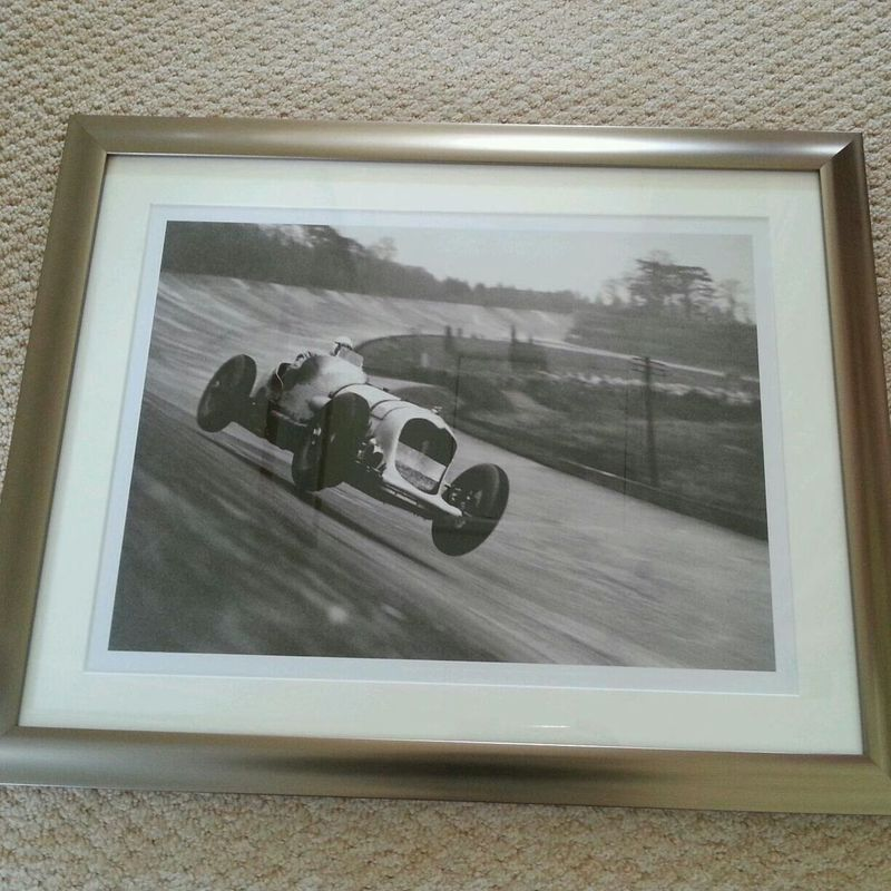 If you know me I like fast cars. A friend dropped this off for me this morning! Love it! Fast Car Driving Fast Old Pic  Brooklands