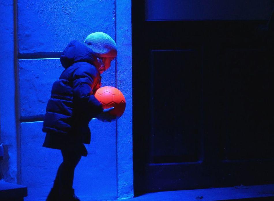 Contrast Night Blue & Orange Kid Colorful Happiness 2016