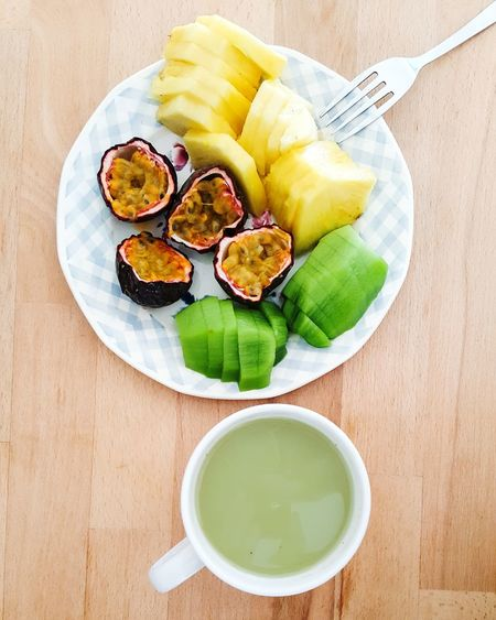 Matcha Matcha Tea Coconut Milk Fruits Exotic Exotic Fruits Healthy Healthy Eating Breakfast Antioxidant Food Food And Drink Foodphotography Food Photography Fresh Organic Organic Food EyeEm Selects Food And Drink Healthy Eating High Angle View Fruit Freshness Indoors  Ready-to-eat Food Drink No People