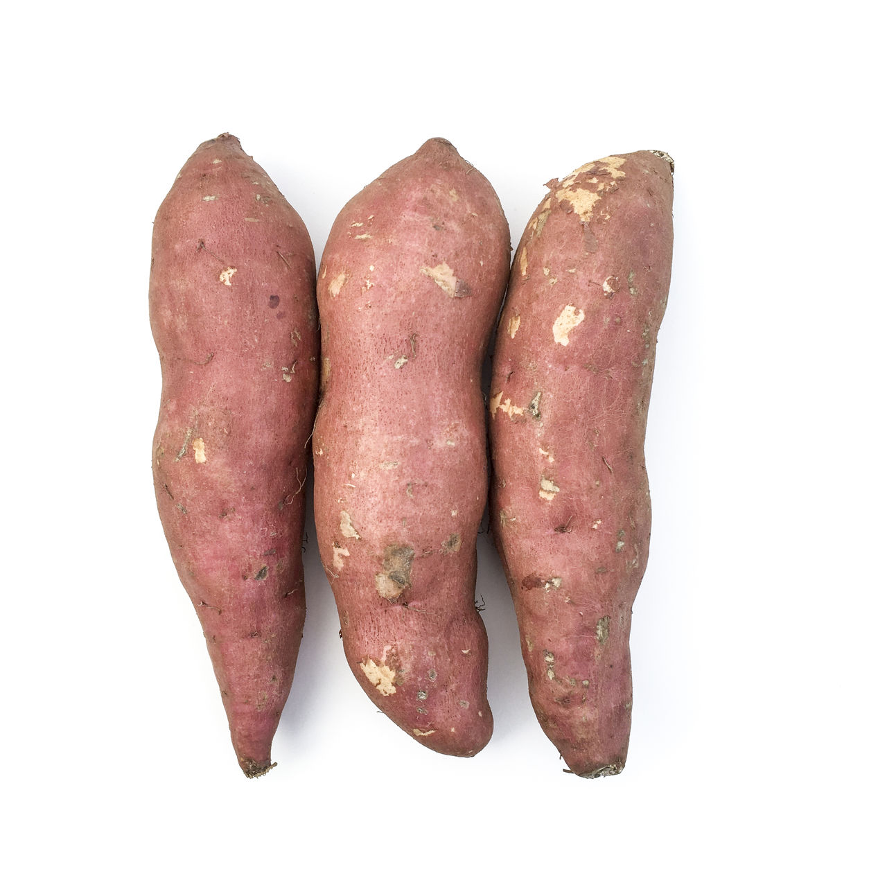 Sweet Potatoes Close-up Cut Out Food Food And Drink Freshness Healthy Eating Red Root Skin Skins Still Life Studio Shot Sweet Potato Sweet Potatoes Vegetable White Background