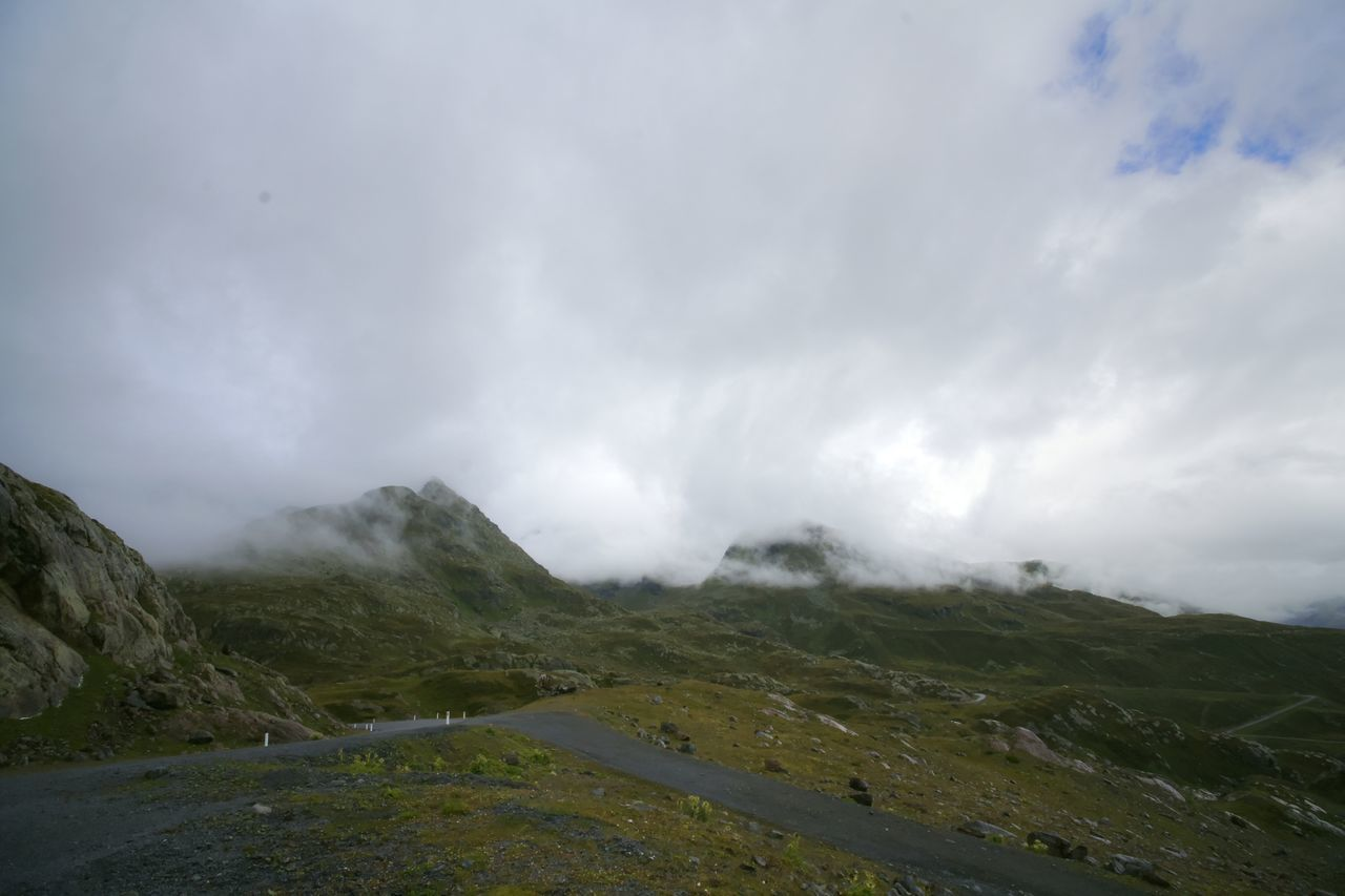Austria Beauty In Nature Cloudy Composition Hairpin Outdoors Perspective Power In Nature Roadtrip Sky Valley