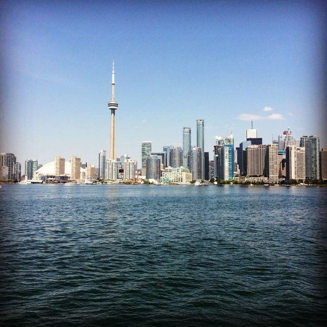 Toronto skyline Canada Lake Ontario Summer Lakeshore Traveling Urban Landscape