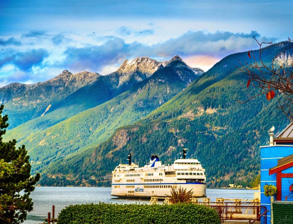 Vancouver BC Ocean Horseshoe Bay Boats Sea And Sky Cruse Nature Waterfront Beauttiful Mountain Sea Side Sunset Coloerful Canada Autumn