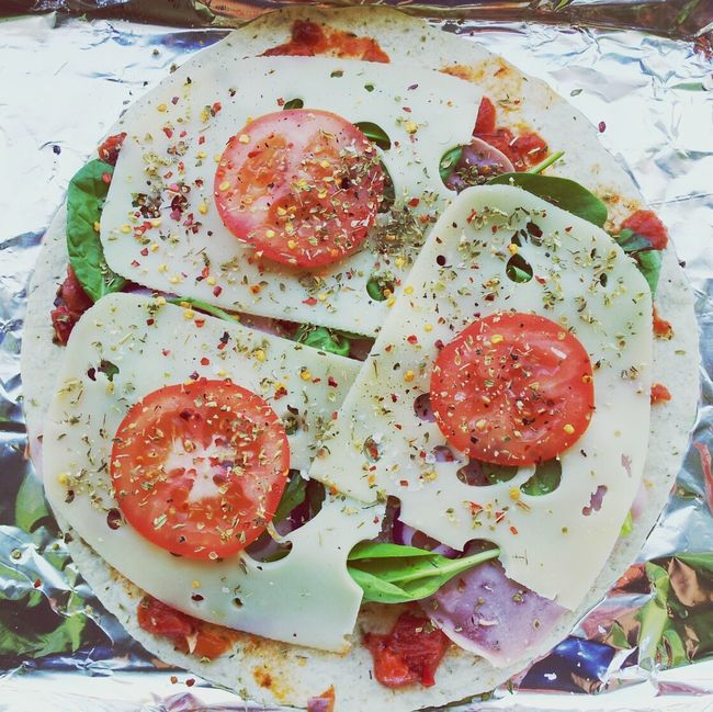 Healthy Food Tortilla Pizza Cooking Lunch