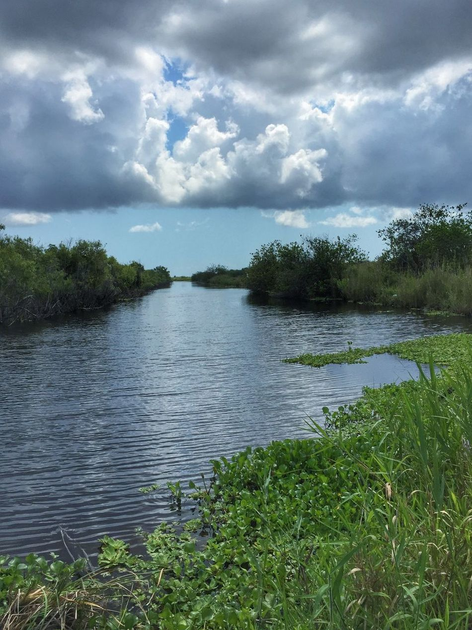Canal & clouds Lake Washington Melbourne Florida Canal Canals And Waterways Florida Nature Impending Storm Dark Clouds