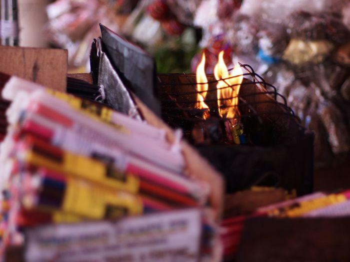 Religion Spirituality Market Flame Quiapo Manila, Philippines Street Photography Street Vendor