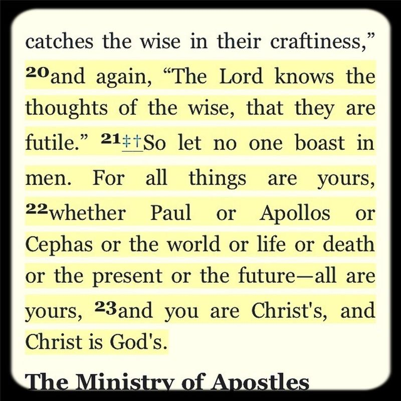 I Corinthians 3:20-23 by Melodee DeVevo