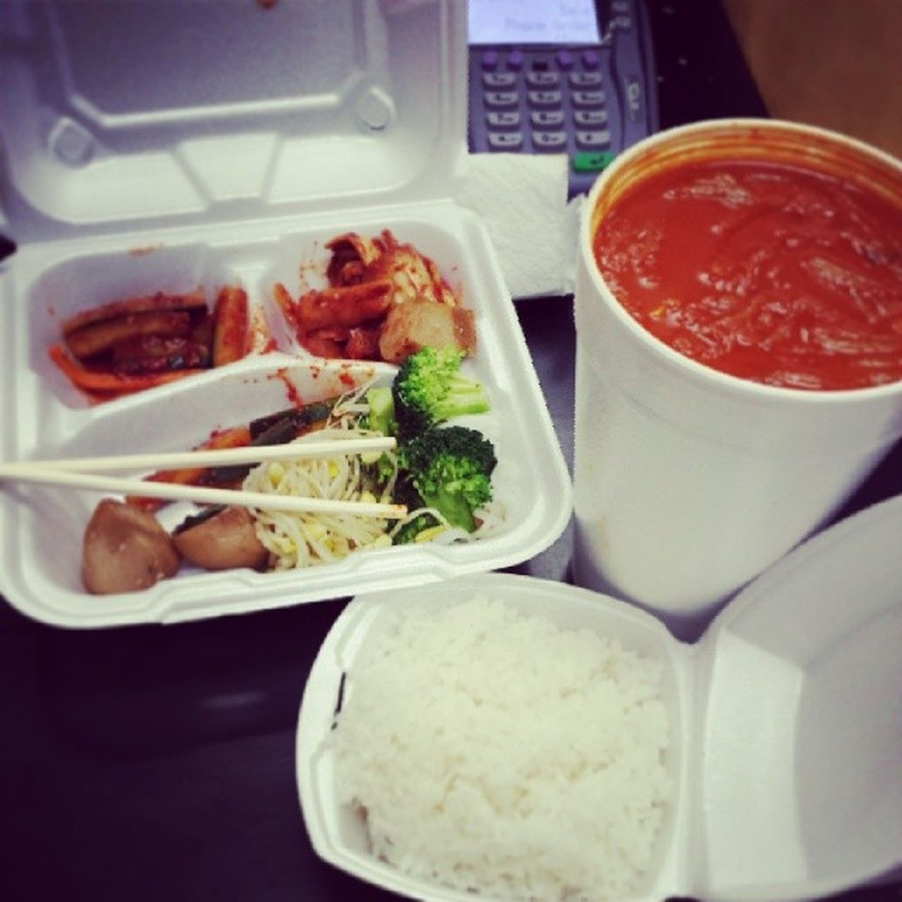 Oh jebus yes. Man I'm so hungry. Craving Kimchisoup Kimchijigae Rice Yummy happymommy jazzyfresh momos clarksville