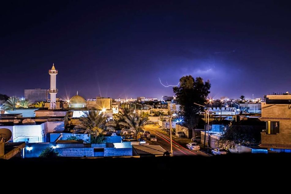 City Sky Blue Outdoors Skyscraper Night Canon7d  Misrata Libya Home