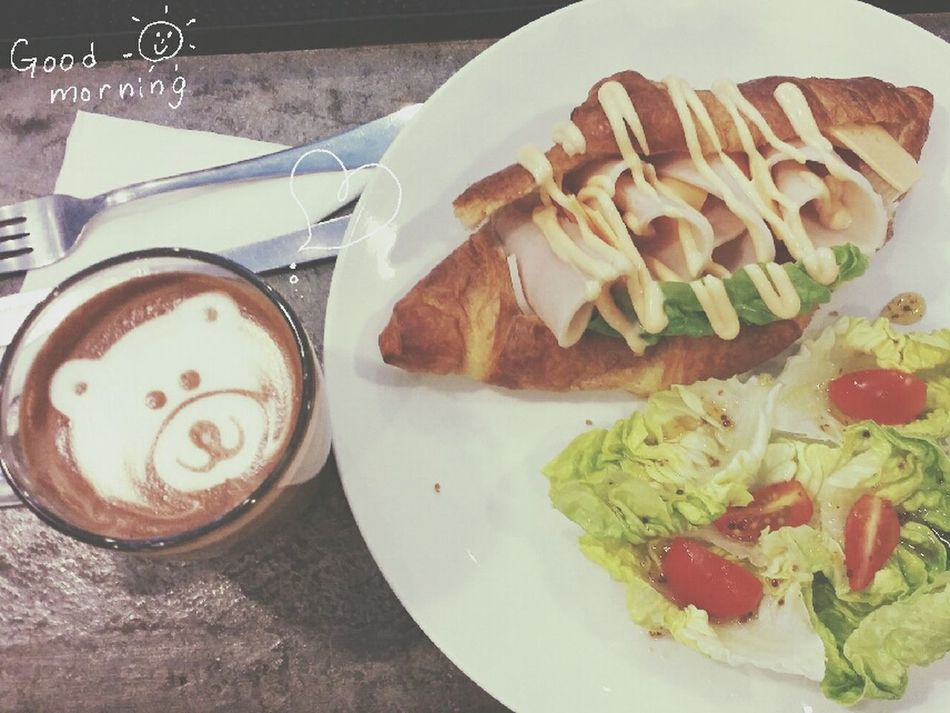 Morning Breakfast Mocha Love Life