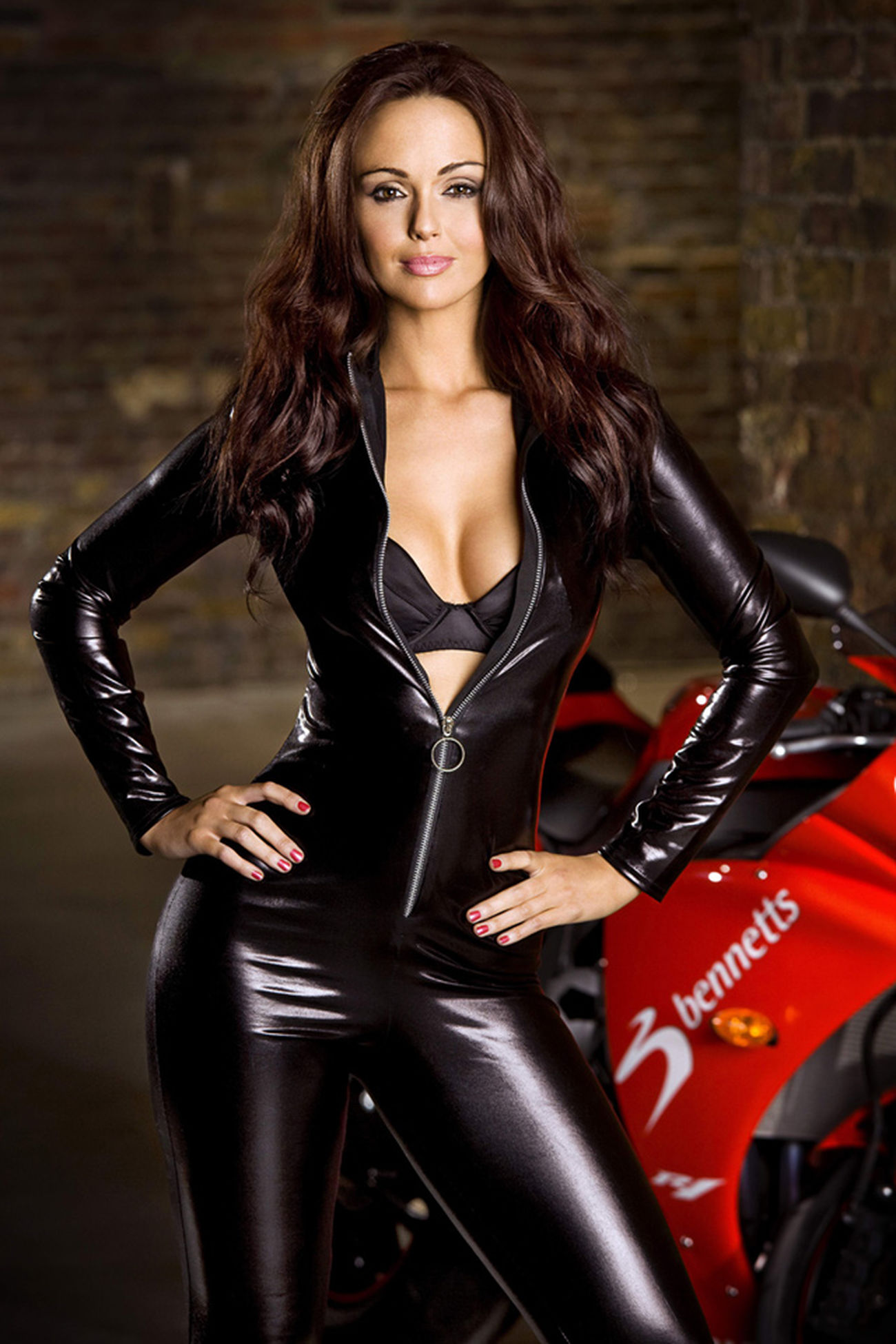 Leather Beauty Beautiful People Black Color One Woman Only Adult Adults Only Only Women Fashion Looking At Camera Young Adult One Young Woman Only Motorcycle Individuality Portrait One Person Women Beautiful Woman Long Hair Red Undress Undressed Sexy Commute Babysex Damn U Re Cute !!!!!!