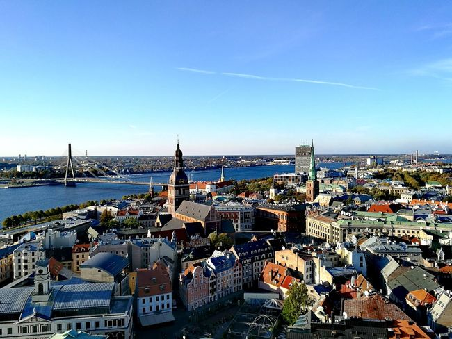 Cityscape City Urban Skyline Architecture Travel Destinations Building Exterior Sky Clear Sky Horizontal Travel Outdoors Cultures No People Day EyeEm Gallery Photography Eye4photography  View Architecture Taking Photos Built Structure Part Of Journey Colors Riga