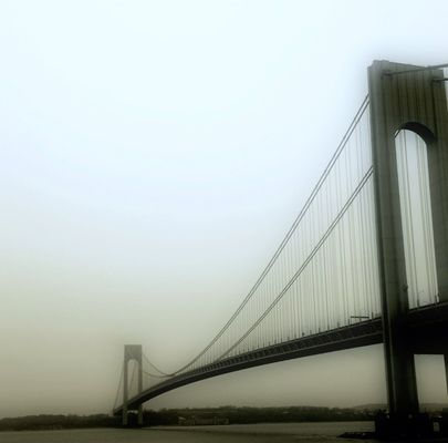 blackandwhite at Under the Verrazano Narrows Bridge by Christimes